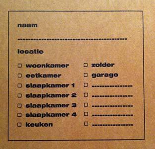 verhuisdoos labelen
